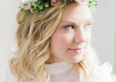 Boho Bridal Floral Crown 2 Jenny Owens Photography