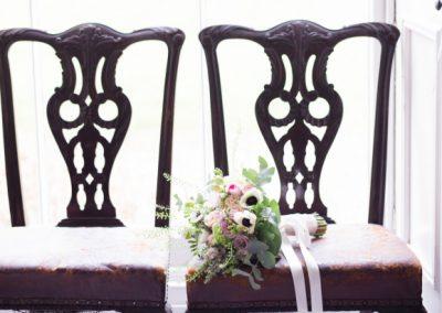 Boho Wedding Bouquet Chair Jenny Owens Photography