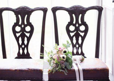 Boho Wedding Bouquet Chair Jenny Owens Photography