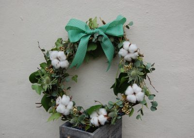 Christmas Cotton Wreath