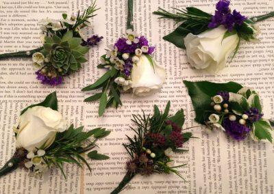 Ivory Purple Buttonholes