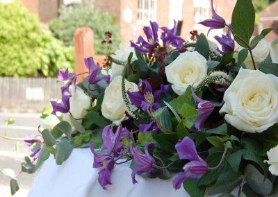 Ivory Purple Long Table Decoration