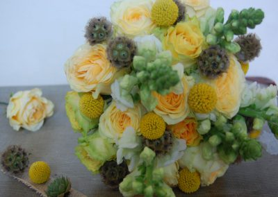 Rustic Yellow Bridal Hand-tied Bouquet