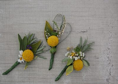 Rustic Yellow Buttonholes