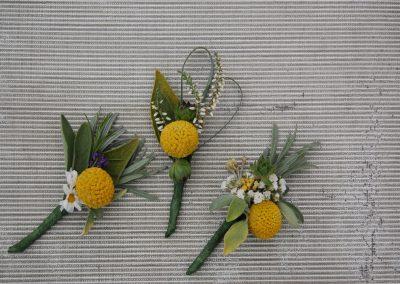 Rustic Yellow Buttonholes
