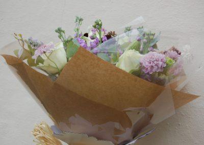 Seasonal Summer Bouquet Brown Paper