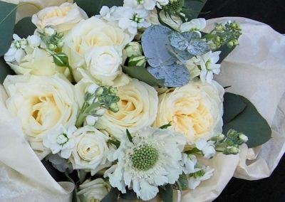 Bridesmaid Bouquet Cream Roses